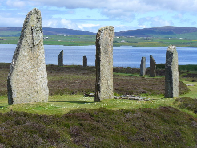 Ring of Brodgar and Loch Harray