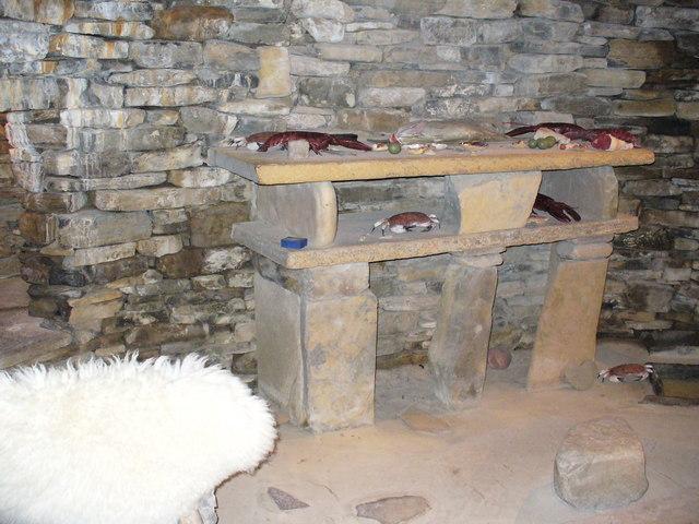 Reconstructed Stone Hut at Skara Brae