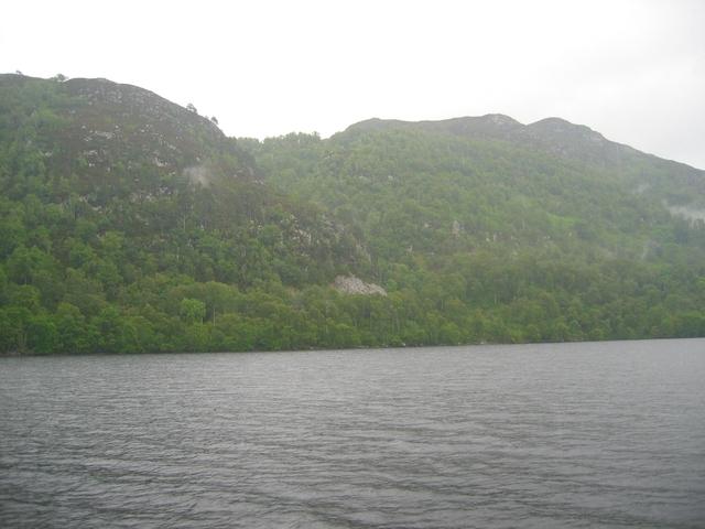 Loch Ness shoreline.