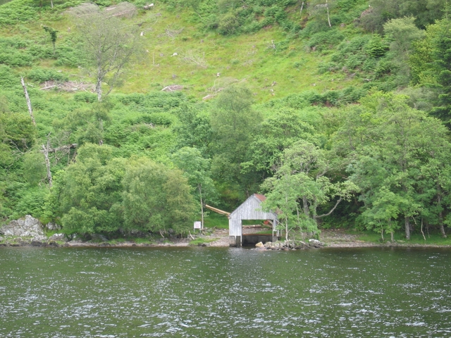 Boathouse on Loch Ness