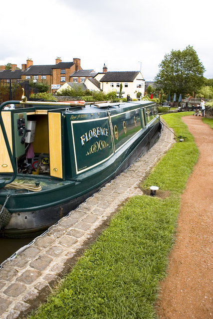 Narrow Boat at Stone Lock, Staffordshire