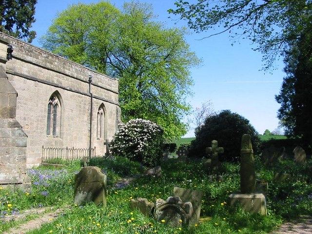 Churchyard at Brailsford Church