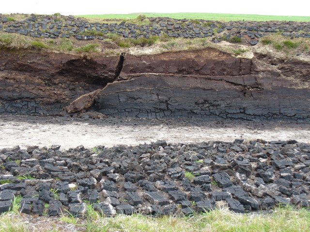 Peat-cutting at Blythemo, Burgar Hill