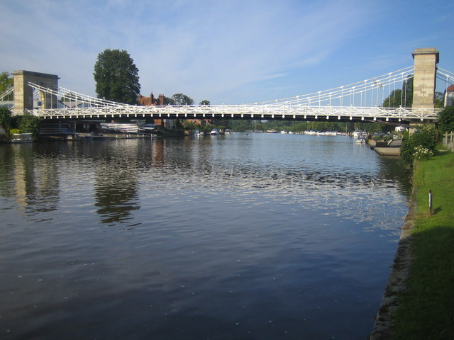 River Thames and Marlow Suspension Bridge