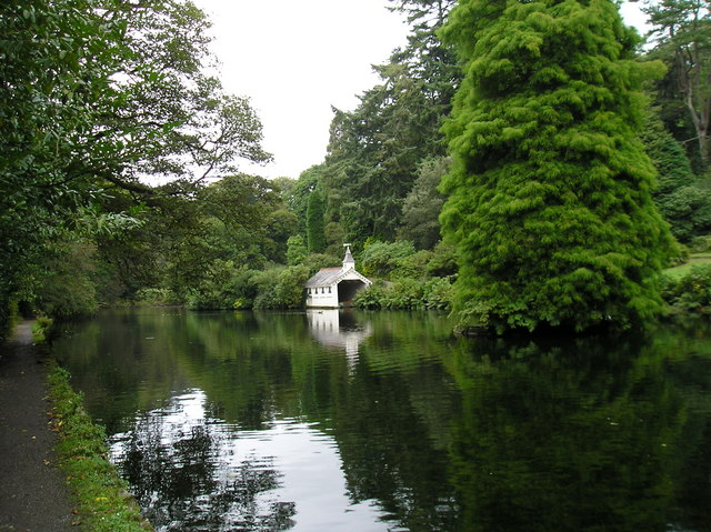 The Lake and Boathouse, Trevarno, Cornwall