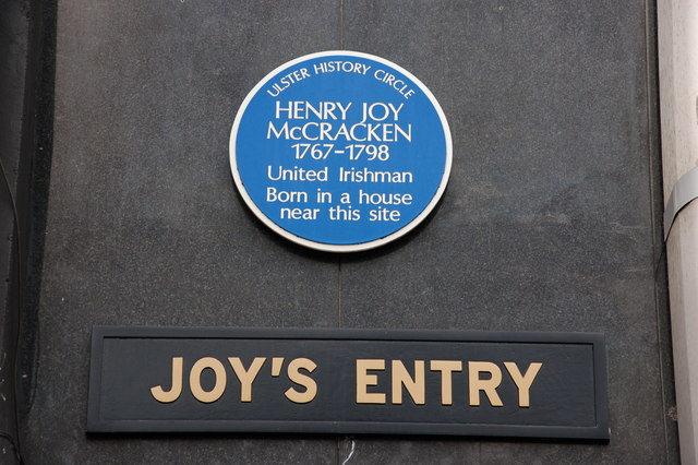Henry Joy McCracken plaque, High Street, Belfast