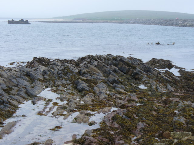 Foreshore on Lamb Holm