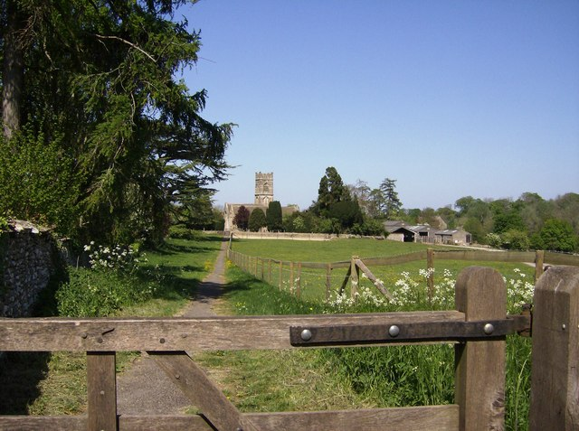 Pathway leading to Luckington Church
