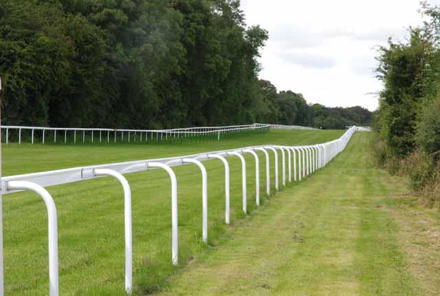 Straight stretch of Salisbury Racecourse