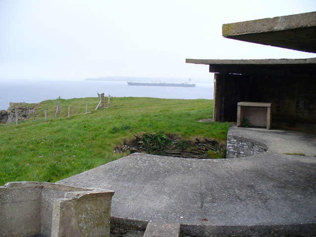 Gun Emplacement Overlooking Sound of Hoxa