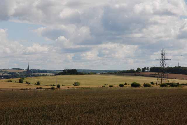 Farmland north of Old Shaftsbury Drove