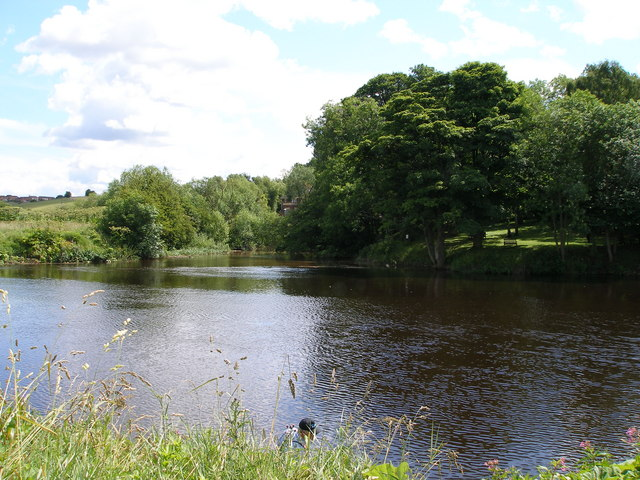 The confluence of the River Tees and the River Leven