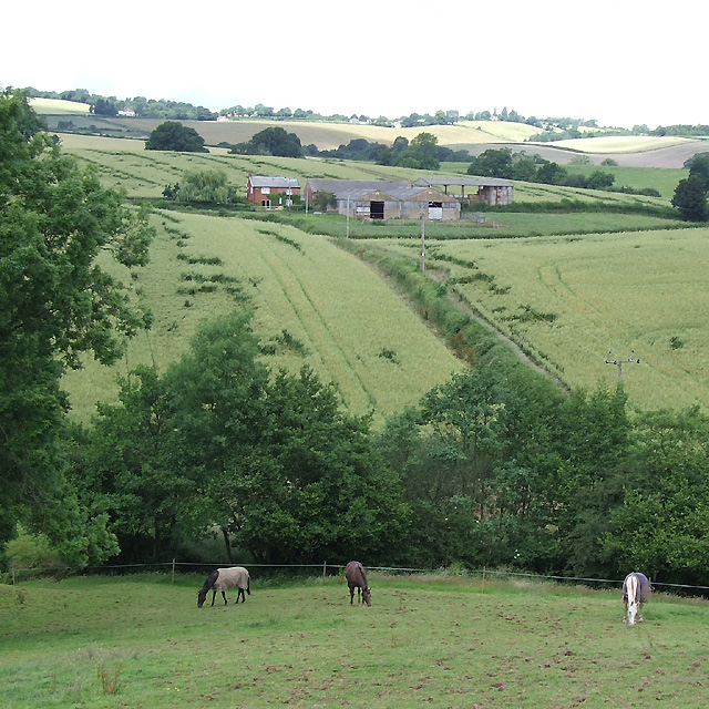 Farmland, and Spoonhill Cottage Farm, Shropshire