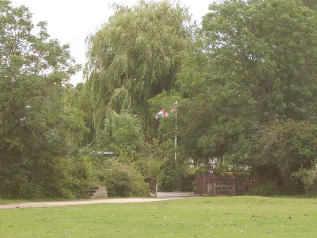Flags flying at Withers Farm