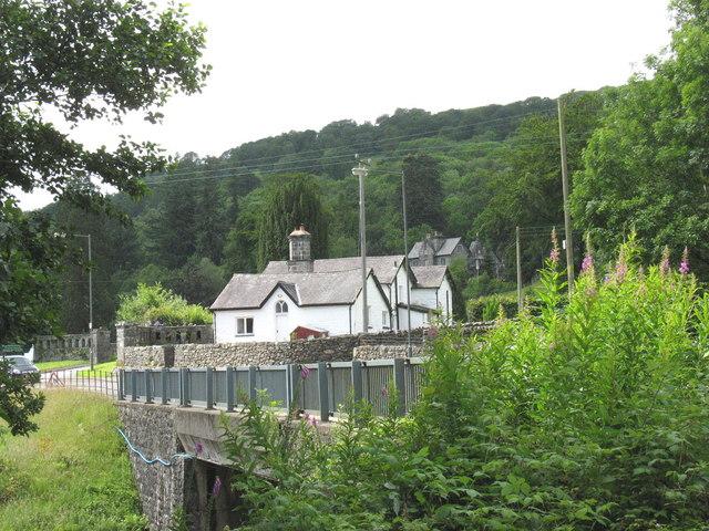 Pont Ganllwyd and the Plas Dolmelynllyn  Lodge