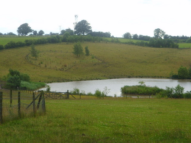 Fishing pond at the foot of Bragger's Hill