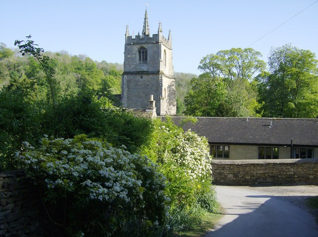Castle Combe church from the north
