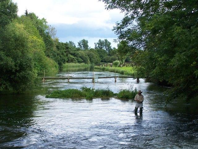Fishing the River Test at Kimbridge