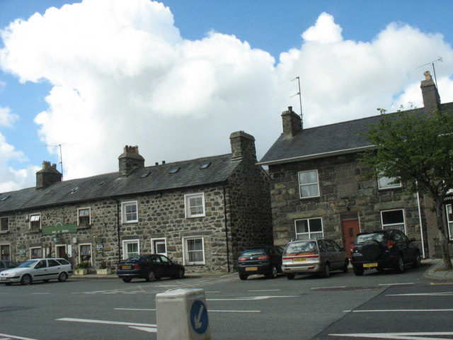Houses on the Square at Tremadog
