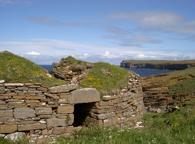 Broch of Borthwick, near Yesnaby
