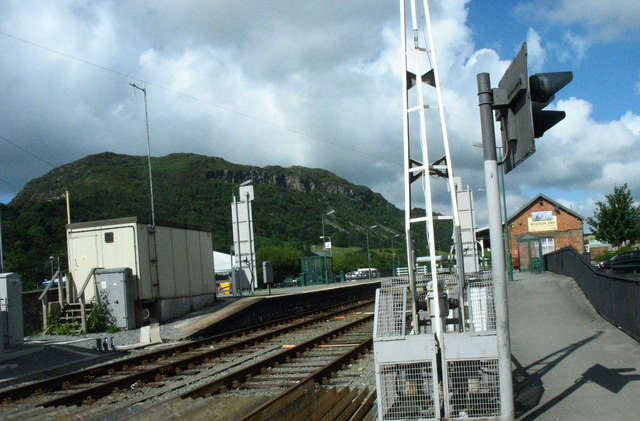 Porthmadog Station from the road