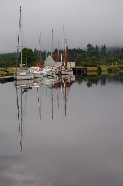 Above the locks at Fort Augustus