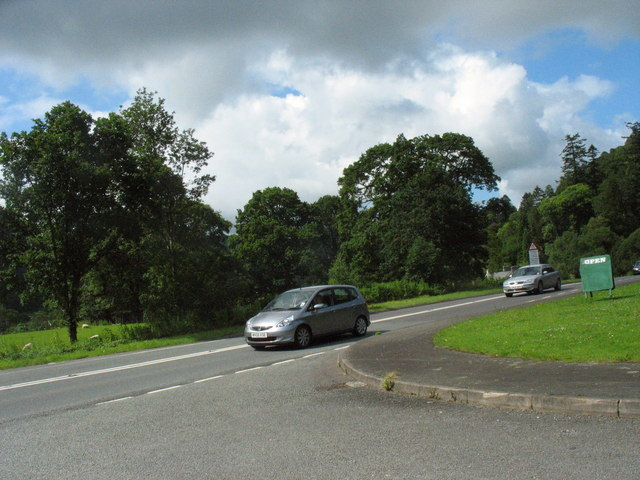 The A 487 at Tan-y-bwlch