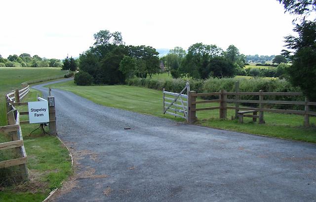 Driveway to Stapeley Farm, Shropshire