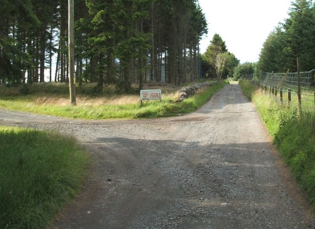 Easterton Farm access track.