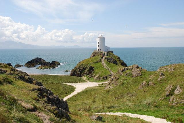 The old lighthouse on Ynys Llanddwyn