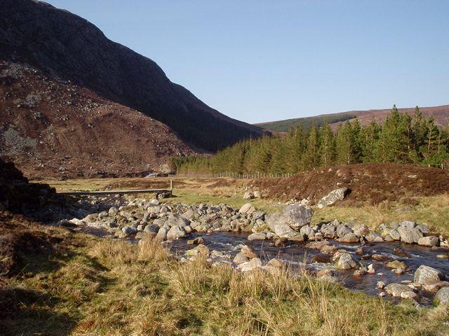 Bridge over the Allt a' Bhealaich Bhig in Glen Orrin