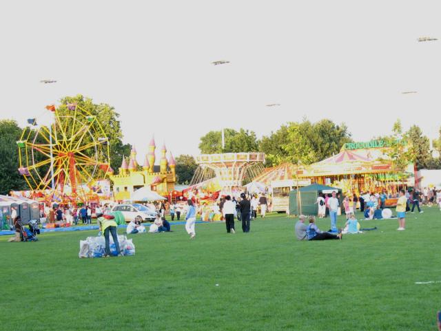 Funfair in Southwark Park