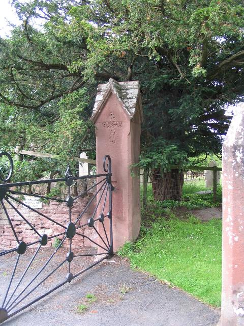 Gateway to churchyard, Alberbury