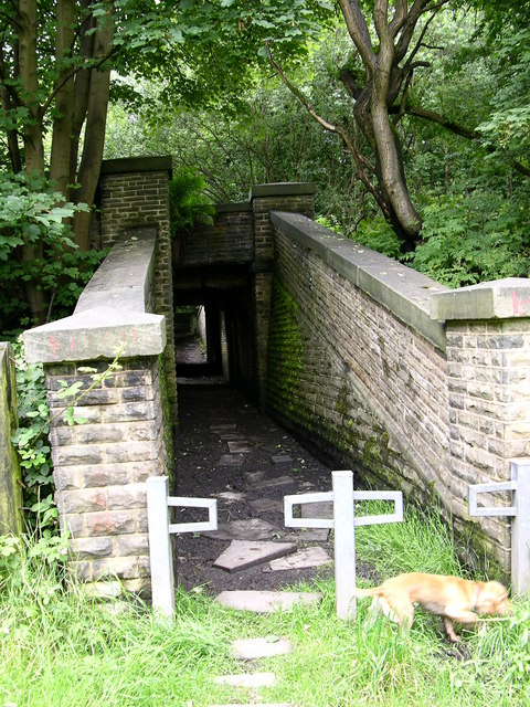 Subway under East Lancs Railway and dismantled railway, Stubbins