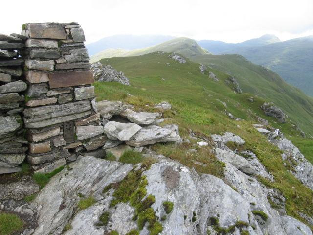 Binnein an Fhidhleir stonebuilt trig point S5949