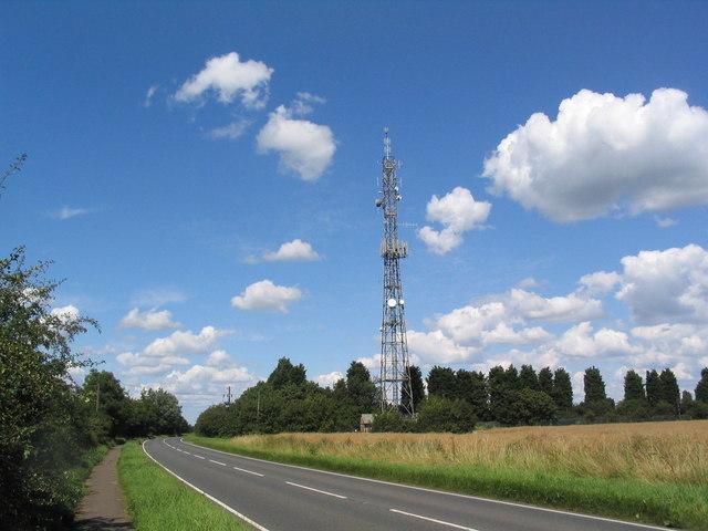 Mast next to the B1040