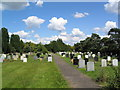 TL3079 : Cemetery, south of Warboys by Tim Heaton