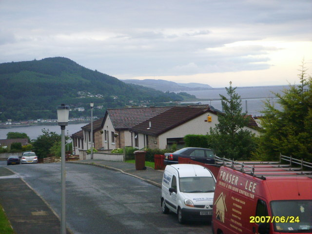 view over Moray Firth and North Kessock
