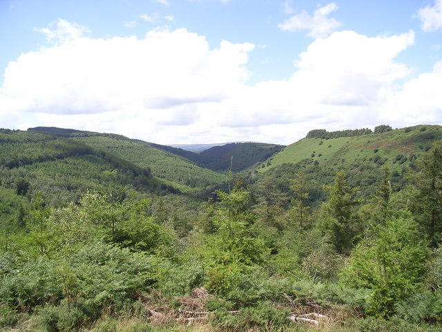The Teign Valley looking west from Wooston hillfort.