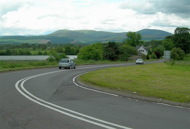Junction of the A73 & A72 at Symington