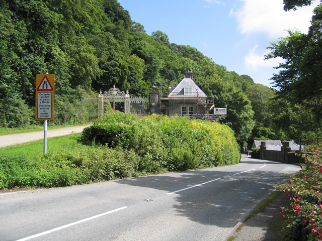 Garth Lodge and the Road to Beaumaris