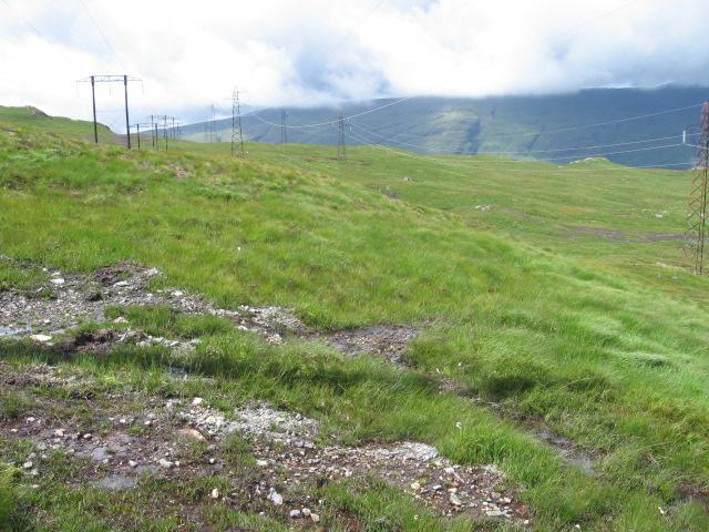 Power lines near Lochan a' Mhill Bhig
