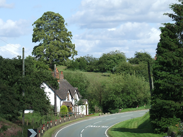 The B4368 in Aston Eyre, Shropshire