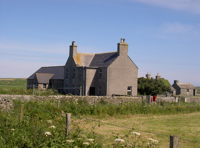 Midbea Schoolhouse and school, Westray