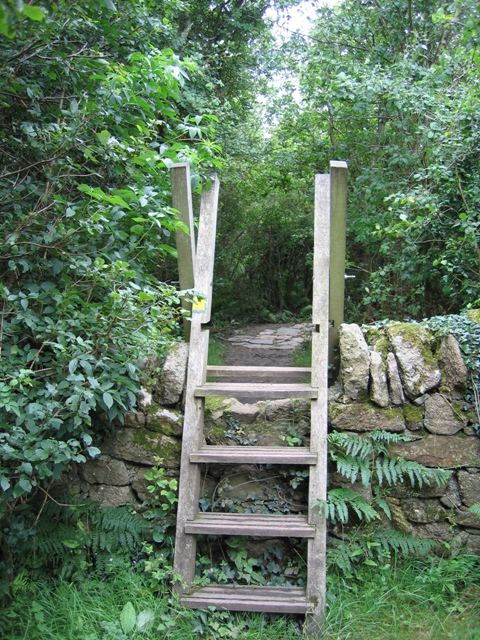 Stile on the Anglesey Coastal Path near Trwyn-du