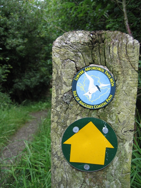 Isle of Anglesey Coastal Path Signpost