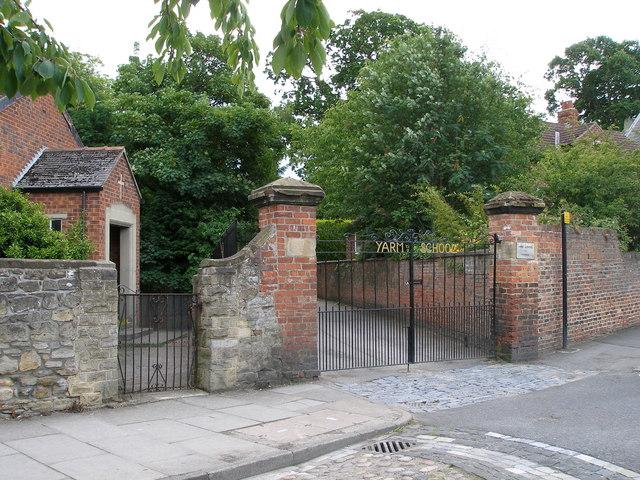 The gates to Yarm School