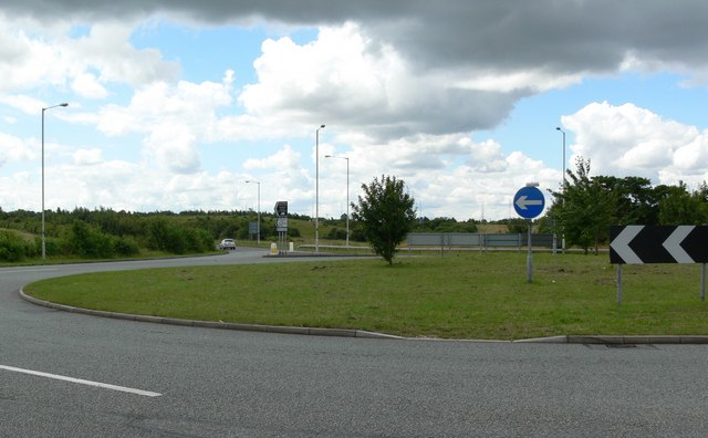 Roundabout near Glenfield, Leicester