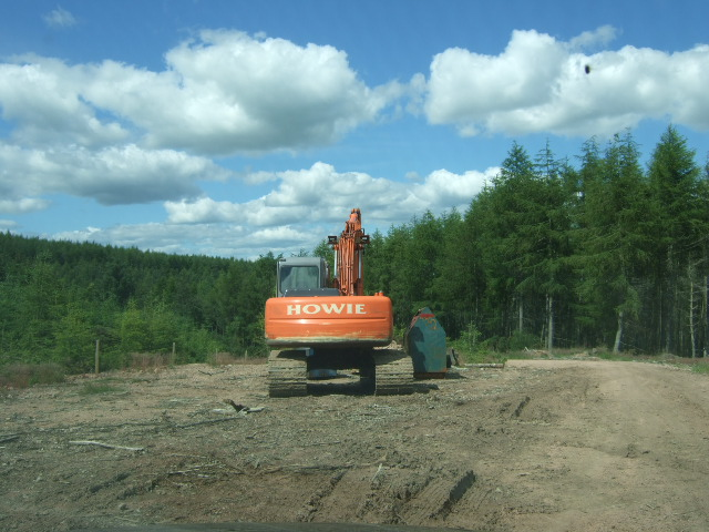 Log handler in Heathcote Forest