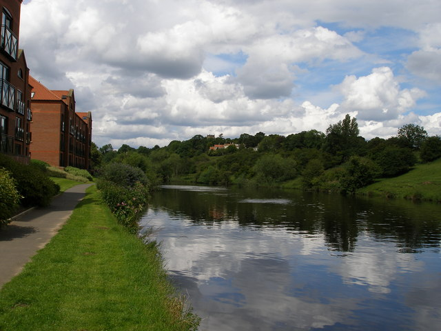 Looking up the River Tees